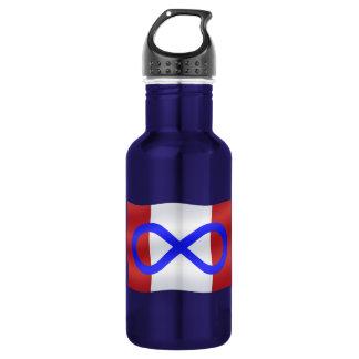 Metis Art Canadian Metis Flag 18oz Water Bottle