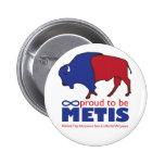 Metis Buffalo Badge Pin