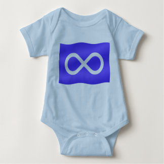 Metis Flag Baby T-shirt First Nation Baby Shirt