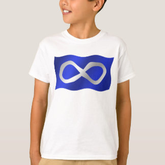 Metis Flag Kids T-shirt First Nation Art Tee Shirt