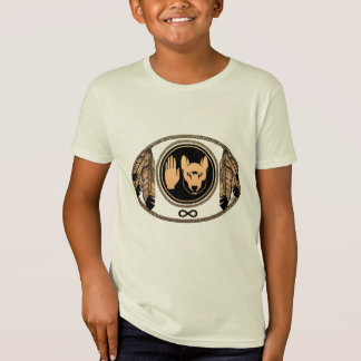 Metis Kids T-shirt Orgainc Native Wolf Flag Shirt