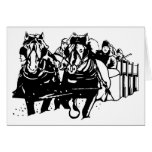 Metis Sleighride Christmas Card with Greeting