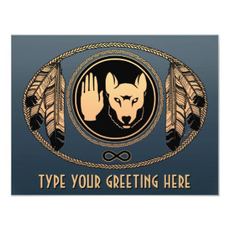 Metis Wolf Invitations Personalized Rebel Art Card