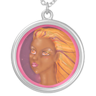 Metisse n the night round pendant necklace