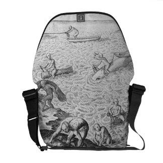 Método indio americano de caza de ballenas, de una bolsas de mensajería