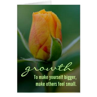 Método rápido y fácil para el crecimiento personal tarjeta de felicitación