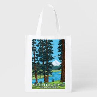 Metolius River Headwaters, Oregon Grocery Bag