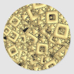 Metralla de oro etiquetas redondas