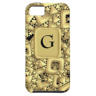 Metralla de oro funda para iPhone 5 tough