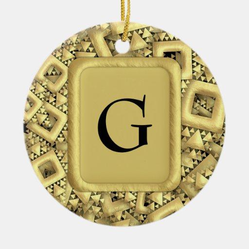 Metralla de oro ornamento de navidad