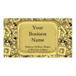 Metralla de oro plantilla de tarjeta de negocio