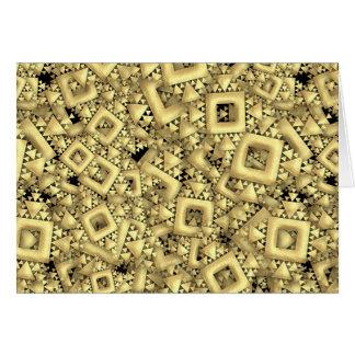 Metralla de oro tarjeta de felicitación