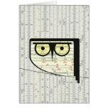Metric Owl Note Card