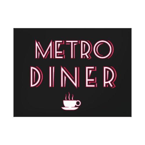 Metro Art Deco Diner Sign