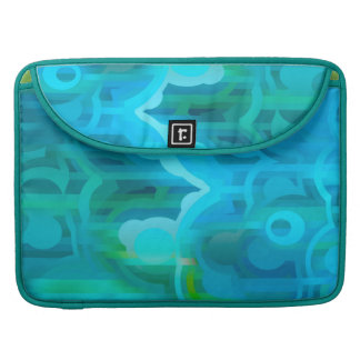 Metro azul - favorable manga de la aleta de Macboo Funda Macbook Pro