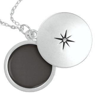 Metro Black-Night-Uptown Girl-Designer Sterling Silver Necklace