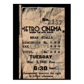 metro cinema post cards
