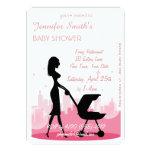 Metro City Girl Modern Baby Shower Invitations