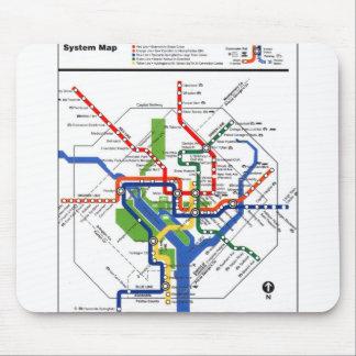Metro de DC Alfombrillas De Ratón
