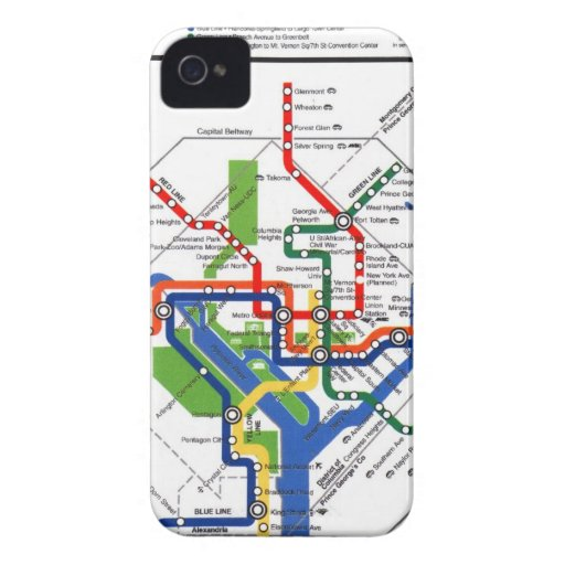 Metro de DC iPhone 4 Case-Mate Protector