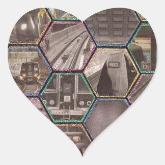 Metro de DC Pegatina En Forma De Corazón