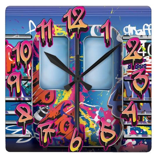 Metro de la pintada reloj cuadrado