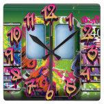 Metro de la pintada reloj de pared