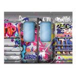 Metro de la pintada tarjeta postal