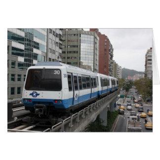Metro de Taipei que sale de la estación de Tarjeta De Felicitación
