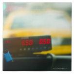 Metro de taxi azulejo cuadrado grande