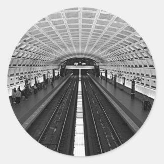 Metro de Washington Pegatina Redonda