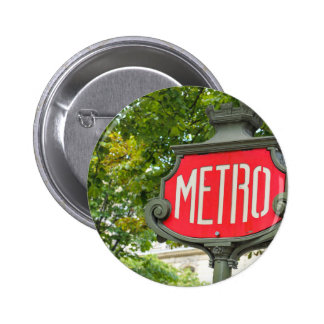 Metro Paris Pinback Button