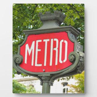 Metro Paris Plaque