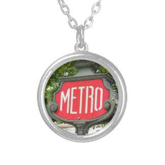 Metro Paris Silver Plated Necklace