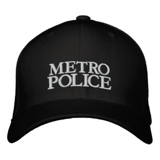 METRO, POLICE EMBROIDERED BASEBALL HAT