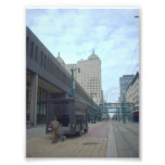 Metro Rail and Liberty Building in Buffalo NY Art Photo