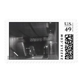 metro rail postage stamps