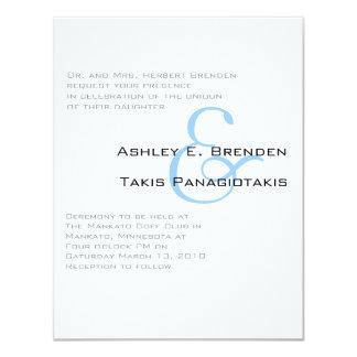 Metro Sheek Wedding 4.25x5.5 Paper Invitation Card