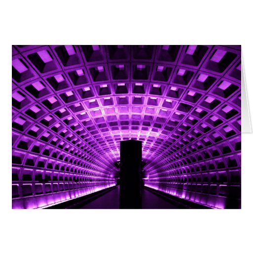 Metro Station Notecard Stationery Note Card