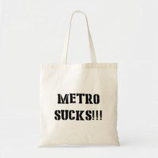 Metro Sucks Tote Bag