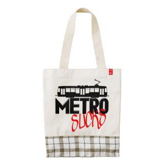 Metro Sucks Zazzle HEART Tote Bag
