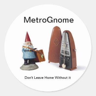 MetroGnome Etiquetas Redondas