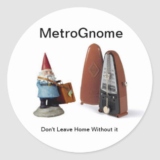 MetroGnome Pegatina Redonda