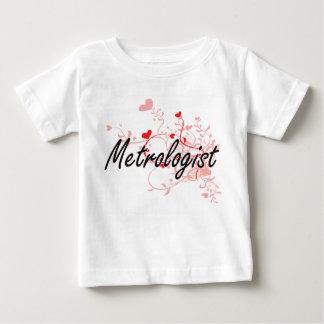 Metrologist Artistic Job Design with Hearts T-shirt