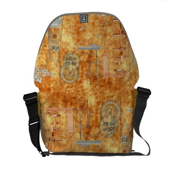 Metronome Burnt Orange Scene Messenger Bag