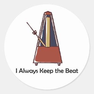 Metronome Classic Round Sticker
