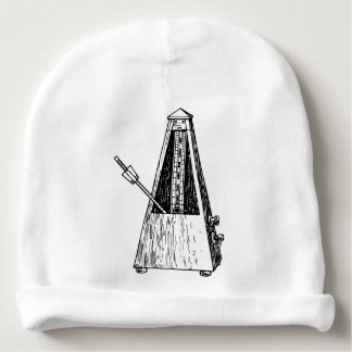 Metronome drawing. Timekeeper Baby Beanie