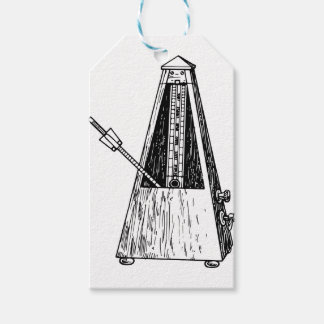 Metronome drawing. Timekeeper Gift Tags