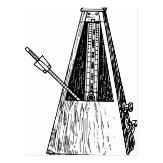 Metronome drawing. Timekeeper Postcard