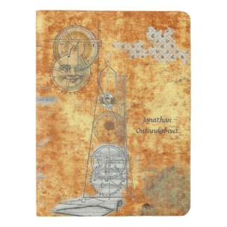 Metronome Story, Time and Tempo, Customized Name Extra Large Moleskine Notebook